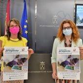 Ana Ortiz y Juani García en la presentación del proyecto 'Apadrina/amadrina un niño saharaui con discapacidad'