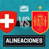 Alineación confirmada de España hoy ante Suiza en el partido de la Eurocopa