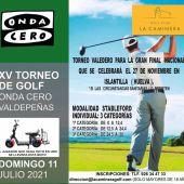 Torneo de golf Onda Cero Valdepeñas