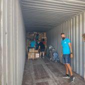 La plataforma Ayuda a Personas Refugiadas de Elche ha enviado un contenedor de ayuda humanitaria a Siria.