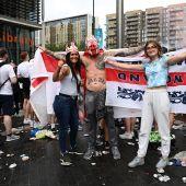 Las imágenes de la final de la Eurocopa que avergüenzan a Inglaterra