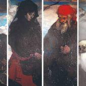 El Museo de Bellas Artes restaura los cuatro lienzos del Zuloaga del Santuario de Arrate.