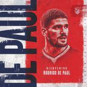 Rodrigo De Paul ya es nuevo jugador del Atlético de Madrid