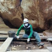 David Ruah, de prácticas en Atapuerca