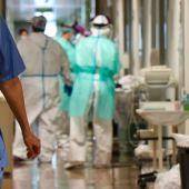 Pasillo de un hospital durante la pandemia del coronavirus.
