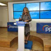 Teresa Mallada, en una rueda de prensa.