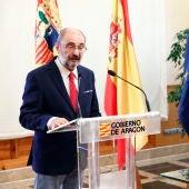 El presidente ha valorado el nuevo Gobierno tras la firma de un convenio con el responsable de Correos