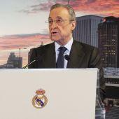 Florentino Pérez, presidente del Real Madrid, en un acto del club.