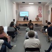 Reunión de Antonio Such y Antonia Moreno con los alcaldes de los municipios esta mañana