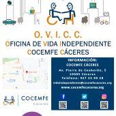 COCEMFE CÁCERES pone en marcha la primera Oficina de Vida Independiente (OVICC) en Extremadura para personas con discapacidad física y orgánica