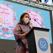 María Ramallo,alcaldesa de Marín, en las Fiestas del Carmen 2021
