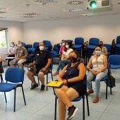 Los primeros participantes, esta mañana en la sede del IMPRO