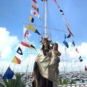 La Virgen del Carmen, patrona de marineros y pescadores, en el RCNT