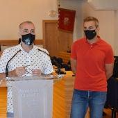 Nacho Sánchez y Antonio Gallego durante la rueda de prensa