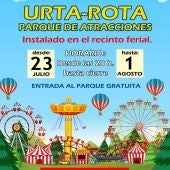 Rota tendrá parque de atracciones por la Fiesta de la Urta