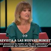 """Pilar Alegría asegura que el regreso a las aulas """"será presencial"""", pero con """"mascarillas"""""""