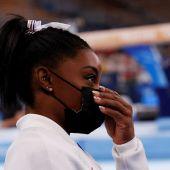La gimnasta Simone Biles en los JJOO Tokio 2020