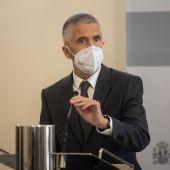 El ministro del Interior, Fernando Grande-Marlaska, da una rueda de prensa.