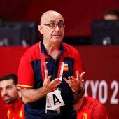 El entrenador de la selección española, Jordi Ribera