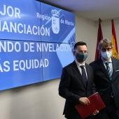 Murcia exige que se reserven 4.200 millones de euros del fondo Covid 2021 para las comunidades peor financiadas