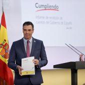 El presidente del Gobierno, Pedro Sánchez, hace balance del curso político marcado por la pandemia