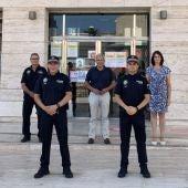 Ayer tomeron posesión como agentes de la Policía Local de Pilar de la Horadada cuatro nuevos policías, que pasarán a formar parte del cuerpo de manera interina