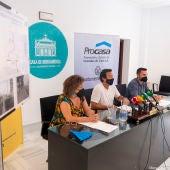 Instantes de la rueda de prensa hoy en Cádiz