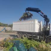 Limpieza Viaria y RSU prorroga la dotación de camiones para la recogida de podas en temporada alta