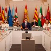 El presidente del Gobierno, Pedro Sánchez durante la XXIV Conferencia de Presidentes.