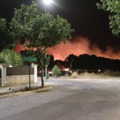 Los bomberos sofocan un incendio en el entorno de la barriada de las Vaguadas y Llera