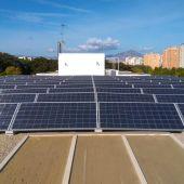 Instalaciones de placas solares en la ciudad