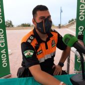 Borja Solero, protección civil de Chiclana