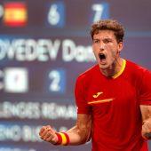 Pablo Carreño, durante su victoria a Medvedev en cuartos de final de los JJ.OO.