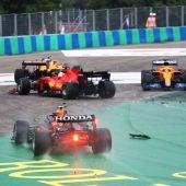 La salida del GP de Hungría