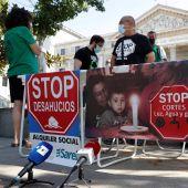 Protesta en contra de los desahucios