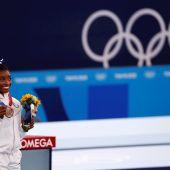 Simone Biles se cuelga el bronce en barra en ¿Su última aparición en unos JJOO?