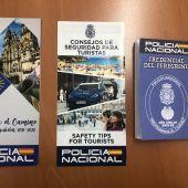 Planfletos de seguridad al turista