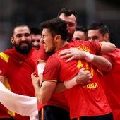 Los Hispanos celebran la clasificación a semis de Tokio 2020