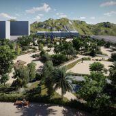 Recreación del nuevo parque del PAU-2