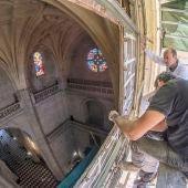 Restauración vidriera Catedral de Segovia