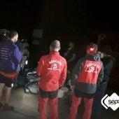 Servicio de Emergencias del Principado de Asturias rescatando a scouts alicantinos