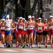 Álvaro Martín y Diego García rozan la medalla en los 20 kilómetros marcha