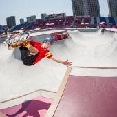 El 'skater' mallorquín Jaime Mateu muestra sus habilidades durante su participación en los Juegos Olímpicos de Tokyo