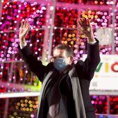 El alcalde de Vigo, Abel Caballero, en el encendido de las luces la pasada Navidad