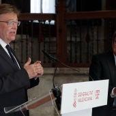 Ximo Puig y José Luis Escrivá
