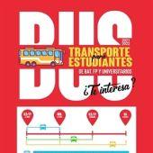 Cartel bus estudiantes La Nucía
