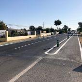 Se prolonga 1km el carril bici que discurre paralelo a la carretera de Jaén