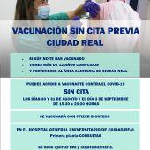 Vacunación masiva sin cita previa en el Hospital de Ciudad Real