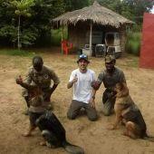 Pedro Salas y el equipo entrenado en El Congo