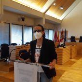 Eva María Masías durante la rueda de prensa